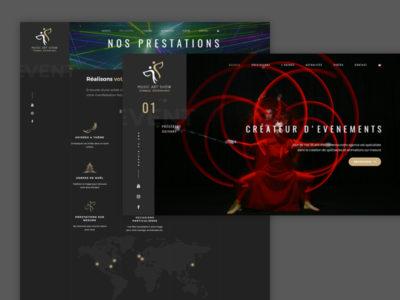 CRÉATION SITE INTERNET MUSIC ART SHOW